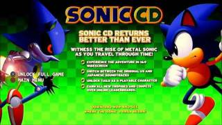Sonic CD PC - Sonic CD PS3 Demo