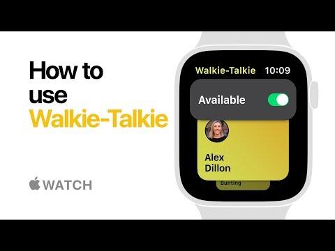 Apple Watch Series 4 — How to use Walkie-Talkie — Apple