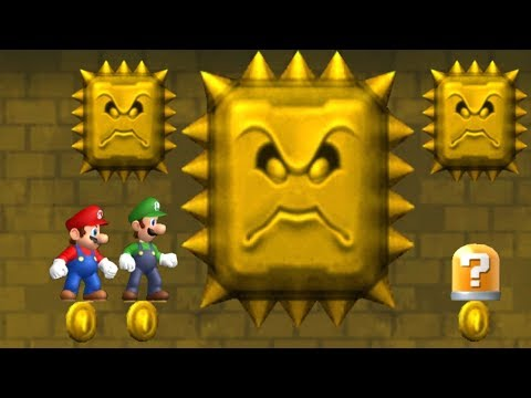 Newer Super Mario Bros Wii Co-Op Walkthrough - Part 2 - Rubble Ruins