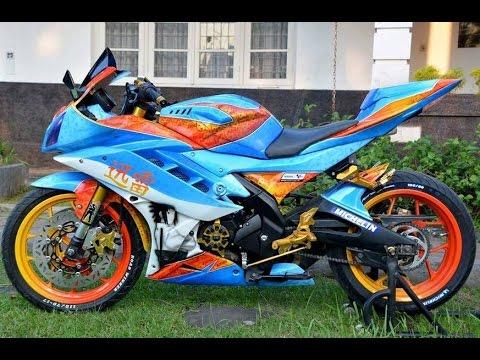 Video Cah Gagah | Video Modifikasi Motor Yamaha R15 Airbrush Keren Terbaru