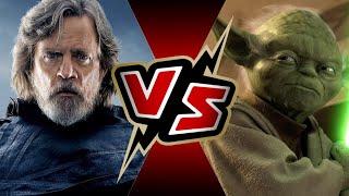 Grandmaster Luke Skywalker VS Yoda | BATTLE ARENA