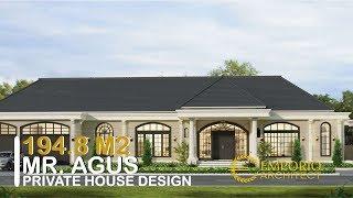 Video Mr. Agus Mediteran House 1 Floor Design - Jambi