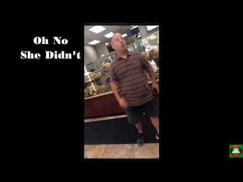 angry guy in bagel shop