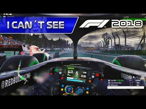 F1 2018 GAMEPLAY: Cockpit Cam / No Assists / Ultimate AI / Wet Race