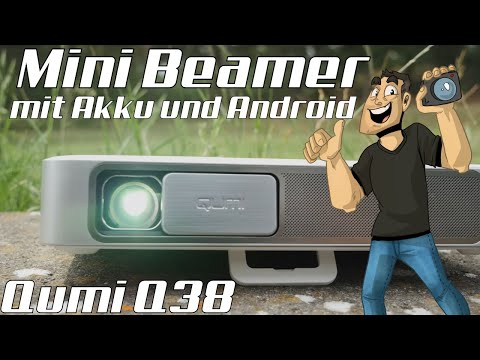 Mini Full-HD Projektor mit Akku und Android 📽 Qumi Q38 Review in 4K (Deutsch)