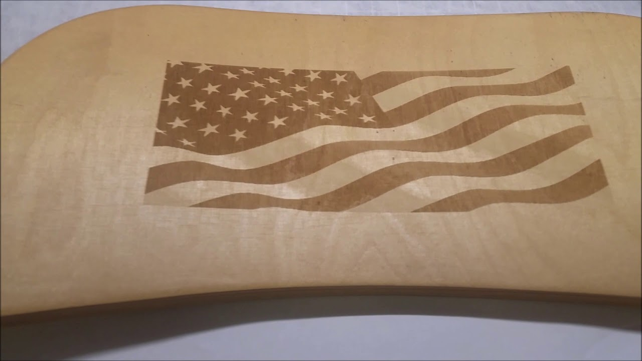 Z Galva Etching American Flag and BITO on Wood