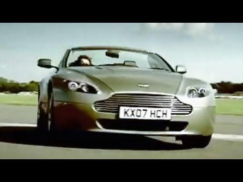 Aston Martin V8 Vantage vs Man on Jet Powered Rollerskates! | Top Gear