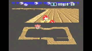"""Super Mario Kart (PAL) Time Trial : Ghost Valley 1 (GV1) - 12""""07 NBT (World Record)"""