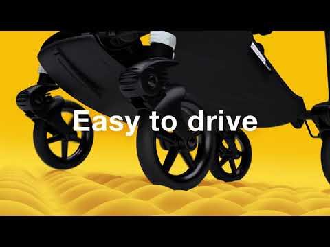 Bugaboo Bee6 коляска прогулочная Black/Black/Lemon Yellow complete