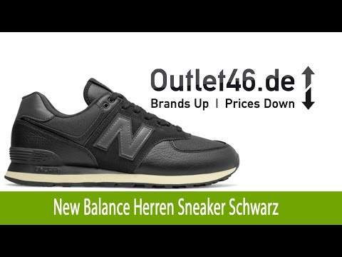 New Balance Herren Sneaker günstig Schwarz   Outlet46.de