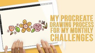 Drawing in Procreate on iPad Pro | My Monthly Challenge Doodles