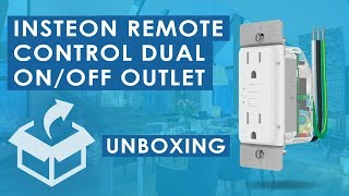 Insteon Remote Control Dual On/Off Smart Outlet Unboxing