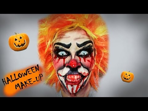 HALLOWEEN MAKEUP TUTORIAL - KILLER CLOWN - vraždiaci klaun ♥ crazyDEYA