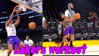 Lakers Workout Anthony Davis, Dwight Howard, Alex Caruso and More