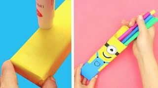 10 STATIONARY DIYS  CREATIVE DIY SCHOOL SUPPLIES AND STATIONARY
