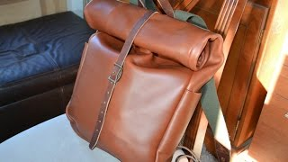 Whipping Post Roll Top Leather Backpack Review