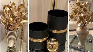 New 2020 Decorating Ideas  💕Metallic Gold Accents    Modern Glam💕