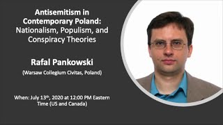 Rafal Pankowski on antisemitism in contemporary Poland, Indiana University, 13.07.2020.