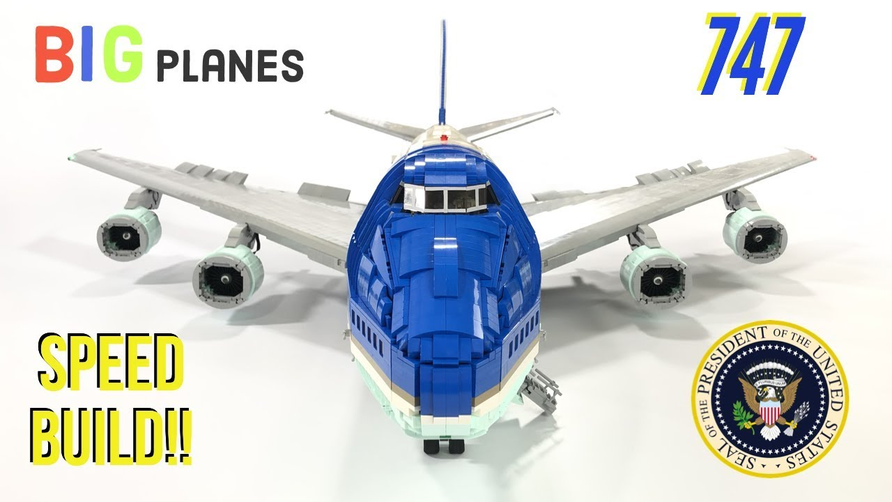 LEGO Air Force One 747 Full Speed Build!!