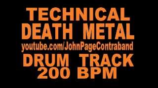 Sick Death Metal Drum Backing Track Drums Only 200 BPM FREE