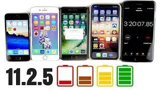 iPhone SE vs iPhone 7 vs iPhone 8 vs iPhone X iOS 11.2.5 Battery Drain Test!