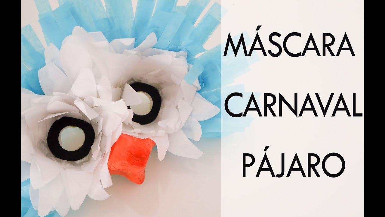Comó hacer una máscara de carnaval. Pájaro.Tutorial paso a paso.