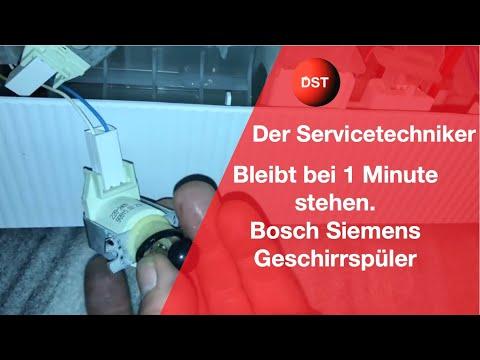 Bosch, Siemens Geschirrspüler bleibt bei 0:01 stehen Ventil verklemmt?