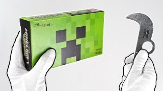 """Minecraft """"CREEPER EDITION"""" Console Unboxing! (New Nintendo 2DS XL)"""