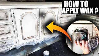 How To Apply Furniture Wax To Chalk Paint