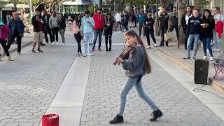 Let me love you (DJ Snake) - Violin Street Performance by Karolina Protsenko