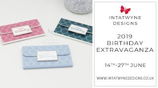 Birthday Extravaganza - #5 Gift Card Holder Tutorial