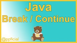 Java Break and Continue Statements in a While Loop Example - Java Programming - Appficial