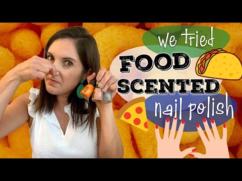 Cheese Puff Nail Polish!? We Tried 3 Food-Scented Nail Polish Flavors | Review and Smell Test