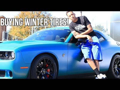 I'm About To Put Some Winter Tires On My Hellcat!!