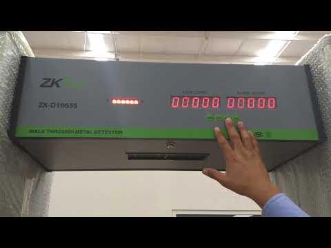 ZKTeco – Como Desbloquear Contraseña de Arco Detector de Metales ZK-D1065S