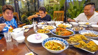 Best Seafood Thailand!! 40 kg. GIANT MONSTER + Spicy Green Pepper Crab!!