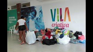 Vila Criativa da Vila Progresso acolhe famílias desabrigadas da chuva