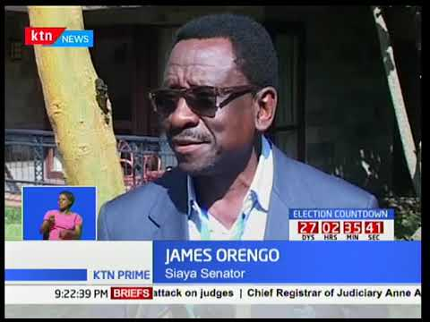 Siaya Senator James Orengo denies allegations of his involvement with Justice Isaac Lenaola