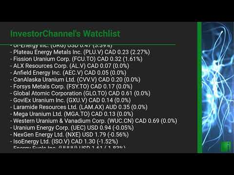 InvestorChannel's Uranium Watchlist Update for Friday, October 23, 2020, 16:30 EST