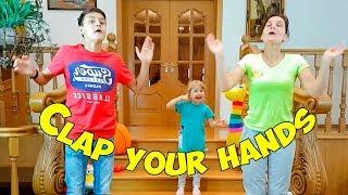 متعة الأسرة مع التصفيق يديك أغنية الحضانة القوافي للأطفال