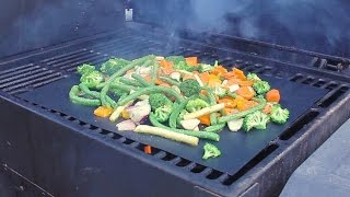 BBQ/Grill Mat Review With Grilled Vegetables