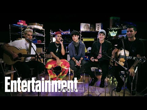 CNCO Perform 'De Cero' | In The Basement | Entertainment Weekly