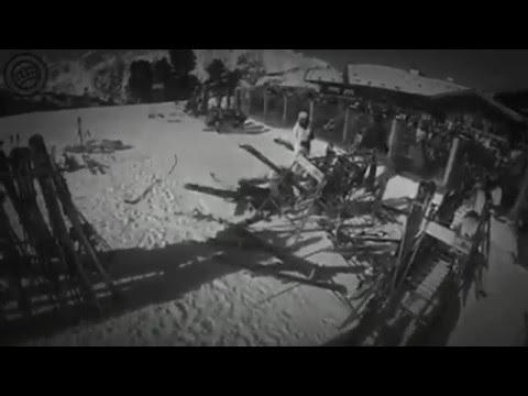 Frau kracht gegen skihalter 😂