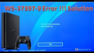 WS-37397-9 Error Fix !! Playstation IP Banned error Solution!!WS-37397-9 Error fixed in 4 steps