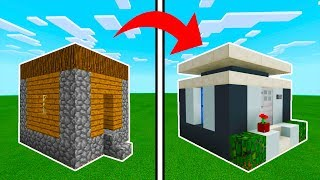Minecraft Tutorial: How To Transform A Small Village House Into A Modern  House