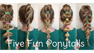Five Fun Ponytail Hair Styles By Two Little Girls Hairstyles