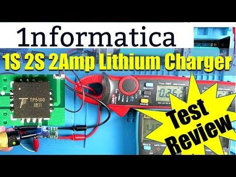 TP5100 Single 4.2V / Dual 8.4V 2A Lithium Battery Charging Board Review Test Tutorial
