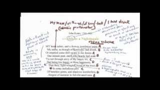 Ode to a Nightingale by John Keats: A Reading, Annotation, and Analysis pt 1 of 2