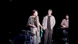 Joe Ely recieves lost guitar from Matt Wright 3/12/13 Slim's San Francisco CA