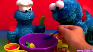 "This is called Play-doh Chef Cookie Monster Letter Lunch sesame street. Mold letters cookies and veggies out of playdough and then use the presser tool to create pasta. When he's finished, use the mold to create his very favorite chocolate chip cookies. Its really easy to DIY do-it-yourself using playdoh. This tutorial will help toddlers and preschool children learn the Alphabet ABC's and also learn how to make an amazing letter soup made with playdough. THX 4 watching this toy review from disneycollector and checkout my new 2014 ""Peppa Pig Playlist"" with latest doll reviews.  Cookie Monster is a famous Muppet from the TV show Sesame Street the Muppets. He's also called: Бисквитено чудовище, Das Krümelmonster, El Monstruo de las Galletas, Macaron le glouton, Mostro dei biscotti, Koekiemonster, クッキーモンスター, Kakemonsteret, Monstro das Bolachas, come come, Коржик, Улица Сезам, Kakmonstret, Barrio Sésamo, Sesamstraße, Sesamo apriti.   Here's how ""Play Doh"" is called in other languages: Clay, Playdough, Play-Doh, pâte à modeler, Plasticine, Plastilina, Plastiline, plasticina, modellera, Crayola, Massinhas de modelar.   Click to Subscribe DCTC DisneyCollector ToyChannel: https://www.youtube.com/DCtoysCollector  Assista ao Canal Brasileiro de Brinquedos e Bonecas. https://www.youtube.com/BrinquedoseBonecas"